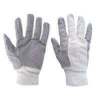 Rękawice robocze nakrapiane, drelichowe r. 10,5