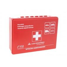 Apteczka pierwszej pomocy, w plastikowym pudełku
