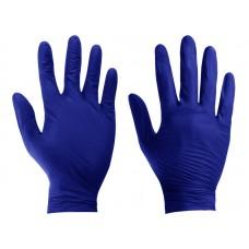 Rękawiczki nitrylowe bezpudrowe, czarne, rozm. M, opakowanie 100 szt.