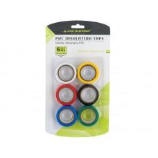 Taśmy izolacyjne PVC 0,13 mm x 15 mm x 5 m, kolorowe, 6 szt.