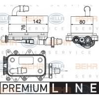 Chłodniczka oleju / wymiennik ciepła skrzyni biegów BMW E60/61 E63/64 E65 E83 (BEHR-8MO376725-101)