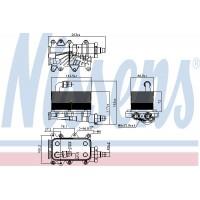 Chłodniczka oleju / wymiennik ciepła skrzyni biegów BMW E60/61 E63/64 E65 E83 (NISSENS-90673)