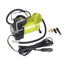 Kompresor powietrza tłokowy automatyczny z cyfrowym ciśnieniomierzem, 12V, 11 BAR, 35L / min, 4 adaptery