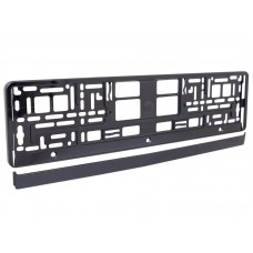 Ramka na tablicę rejestracyjną metalizowana, czarna