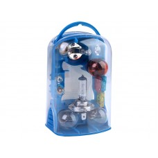 Zasobnik H7 + H1 12V + 10 elementów, zestaw żarówek