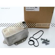 Chłodnica oleju / wymiennik ciepła E46, E90, E60, E70 (BMW oryginał-11427788462)