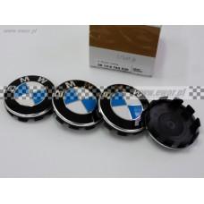 Emblemat, dekielek felgi, osłona piasty z chromowaną krawędzią BMW oryginał-36136783536