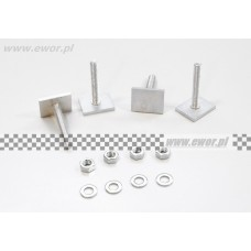 Wsuwki do belek aluminiowych 43 mm - kpl 4 szt.