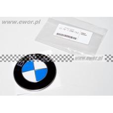 Emblemat na bagażnik dachowy BMW E39 E46 E53 E60 E61 E66 E70 E90 F01 (BMW oryginał-51767288752)
