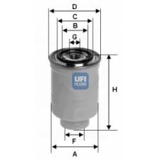 Filtr paliwa Ranger - 2.5/3.0 TDCi 2006- (Ufi-24.374.00)