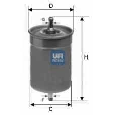 Filtr paliwa Galaxy - 2.0/2.3/2.8 (Ufi-31.500.00)