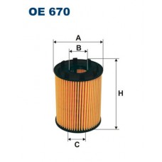 Filtr oleju FORD KA 1,3 TDCi (Filtron-OE670)