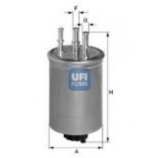 Filtr paliwa Focus MK I, Mondeo III, Transit Connect - 1.8/2.0/2.2 TDCi (Ufi-24.445.00)