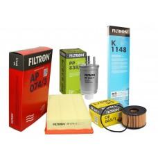 Zestaw filtrów Mondeo MK III (Filtron-AP074/3, OE665/1, PP838/4, K1148)